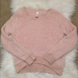 Light Baby Pink Furry Ultra Soft Sweater!